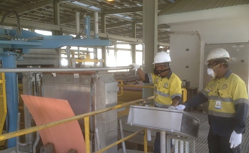 process plant commissioning Indonesian copper plant